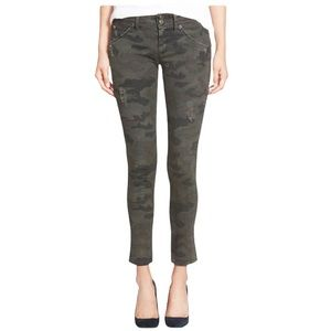 Hudson COLLIN Camo Distressed Skinny Jeans- 25